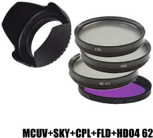 DynaSun Kit Filtro Multicoated UV MCUV 62 mm + Polarizzatore CPL 62 mm +Skylight +FLD +Paraluce