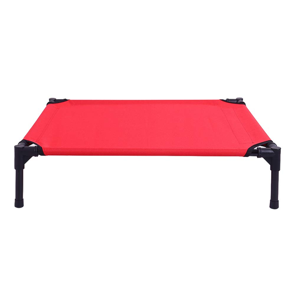 Red 1229117CM Elevated Dog Bed Comfortable for Any Dog More hygienic Than Padded beds Portable Camping Bed with Sturdy Frame Waterproof,Natural,76  60  16CM