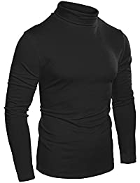 Naggoo Men's Basic Pullover Sweaters Slim Fit Thermal Turtleneck