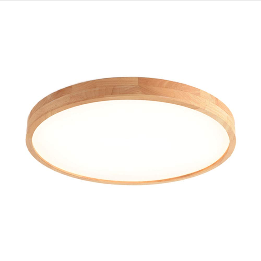 ZXT LED Round/Oval Solid Wood Ceiling Lamp Nordic Style Living Room Lamp Acrylic Lampshade Modern Garden Lamp Outdoor Corridor Kitchen Bathroom ...