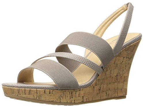 Cork Platform Pumps - CL by Chinese Laundry Women's Intend Wedge Pump Sandal, Taupe Lizard, 8.5 M US