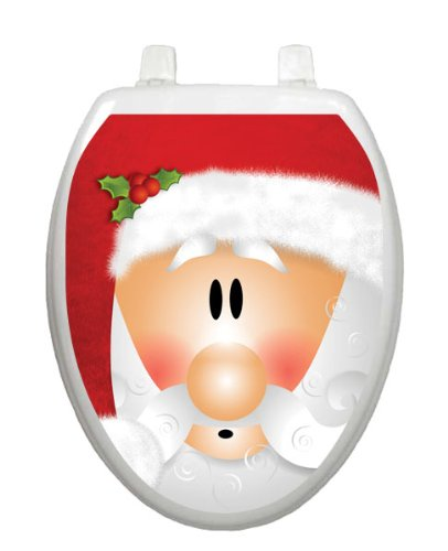 Santa Claus Christmas Toilet Tattoo TT-X630-O Elongated Winter Snow Holiday Reindeer by Toilet Tattoo