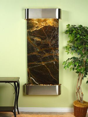 Adagio IFR2005 Inspiration Falls - Green Rainforest Marble Wall Fountain ()