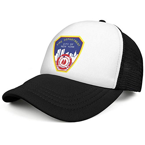 DXQIANG Fire Department City of New York Unisex Cool Mesh Ball Cap Breathable Adjustable Sun Hats