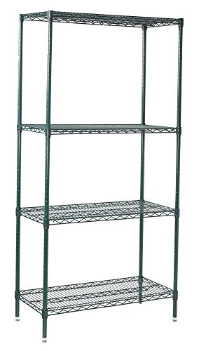 Winco VEXS-2448 4-Tier Wire Shelving Set, Epoxy Coated, 24