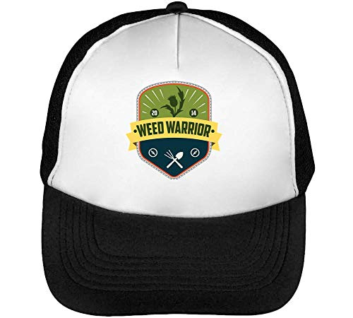 Weed Warrior Smokers Dope Gorras Hombre Snapback Beisbol Negro Blanco
