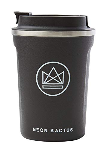 Neon Kactus Taza de cafe reutilizable aislante/taza de viaje – Rock Star 380 ml