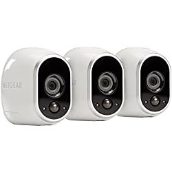 Arlo by NETGEAR Security System – 3 Wire–Free HD Cameras | Indoor/Outdoor | Night Vision (VMS3330)