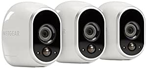 NETGEAR Arlo Smart Security System – 3 HD Wire-Free Cameras, Indoor/Outdoor with Night Vision (VMS3330-100NAS)