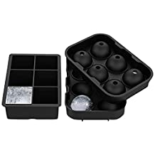 ALTMAN Ice Cube Tray Silicone Sphere Ice Ball Maker Hold - 2 Pack with Molds 6 X 4.8cm Round Ice Keep Your Drink Chilled