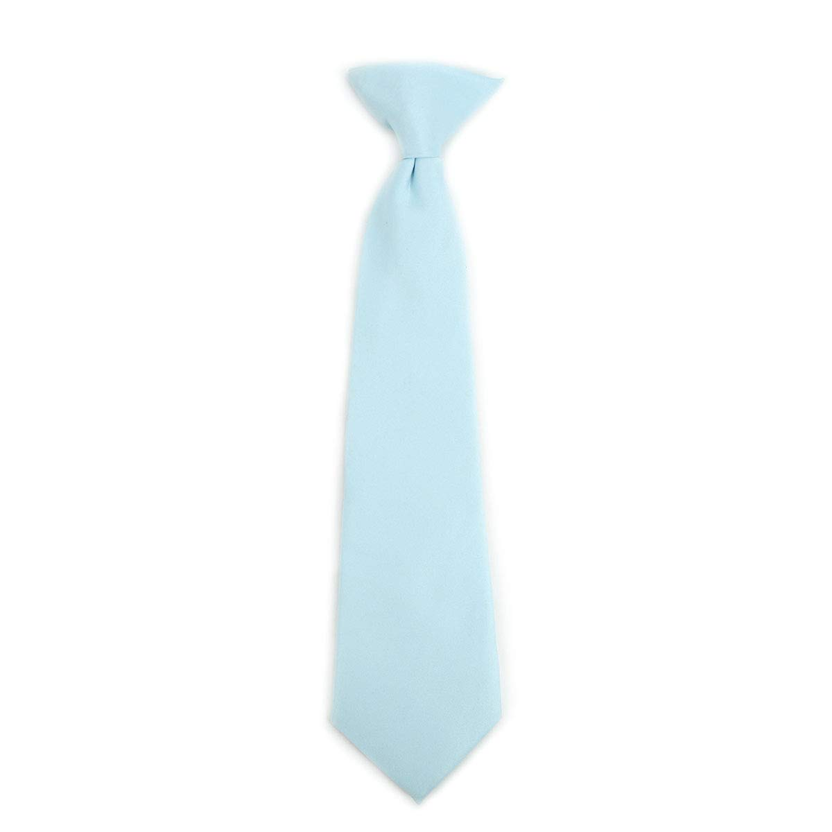 Boys Solid Color Clip on Tie 8 11 14 Inch Many Great Colors Available Pretied Formal Neckties for Boys