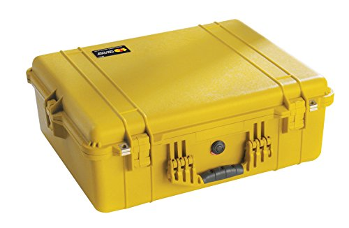 Pelican 1600 Camera Case With Foam Yellow