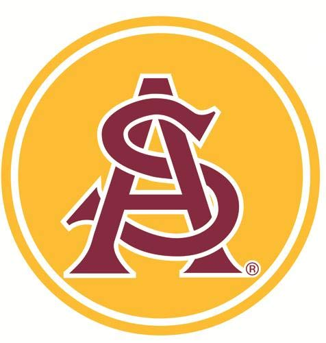 (6 Inch ASU Logo Decal Arizona State University Sun Devils AZ Removable Wall Sticker Art NCAA Home Room Decor 6 by 6 Inches )