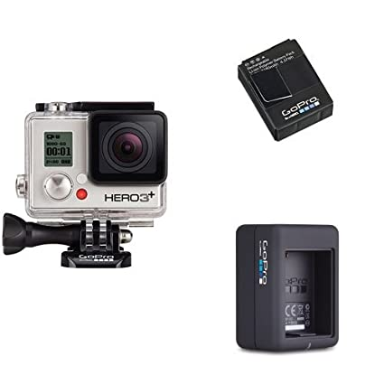 GoPro Camera HERO3+ Silver Bundle (Silver)