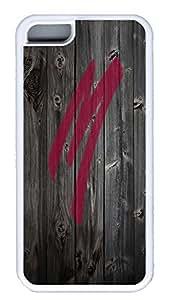 iPhone 5C Case,Wood stripe Series Customize Ultra Slim Moxy Wood Soft Rubber TPU White Case Bumper Cover for iPhone 5C