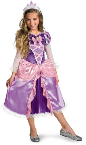 Toddler Girl'S Costume: Rapunzel Tangled Deluxe- 3-4T *** Product Description: Dress Your Child Like The Princess From Her Favorite Movie! Deluxe Pink And Purple Dress, Petticoat And Tiara. Toddler Medium Fits Girl'S Size 3T-4T. ***