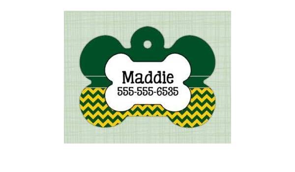 0b8fbc48e645 Amazon.com : QM - Custom Pet ID Tag Bone Oregon Ducks Print, Personalized  Dog Tag, Identification Name tag, Cat Tag, Lunch Box Tag, Bag Tag : Pet  Supplies