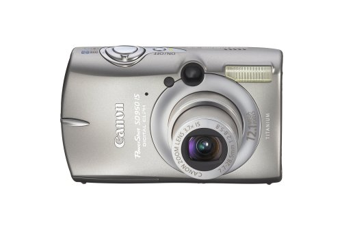 (Canon PowerShot SD950IS 12.1MP Digital Camera with 3.7x Optical Image Stabilized Zoom (Titanium))