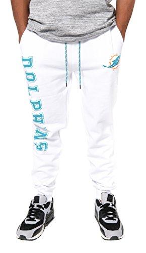 NFL Miami Dolphins Men's Team Logo Active Basic Fleece Jogger Pants, Small