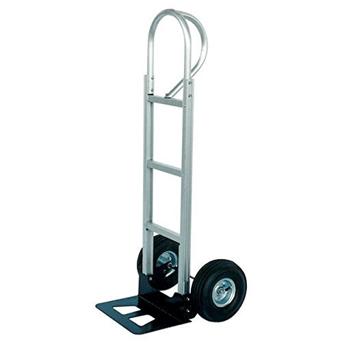 Vestil-P-Handle-Hand-Truck-Aluminum-500-Lb-Capacity-10-Inch-x-3-12-Inch-Pneumatic-Wheels-Model-APHT-500A