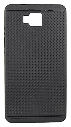 Fcs Dotted Soft Silicom Back Case For Lyf Wind 2 Black