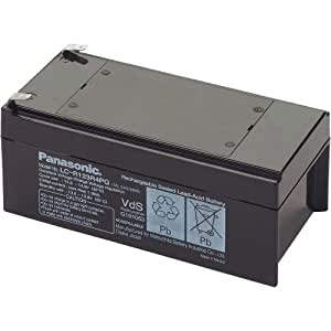Panasonic Valve Regulated Lead Acid Batteries 12V3.4A Sealed Lead Acid (VRLA) 12V batería recargable - Batería/Pila recargable (Sealed Lead Acid (VRLA), 12 V, Negro)