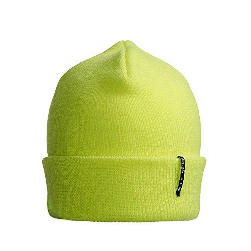 Beanie fluorescente acrílico ID de clásico Amarillo Gorro Modelo Punto H8WYaSPq