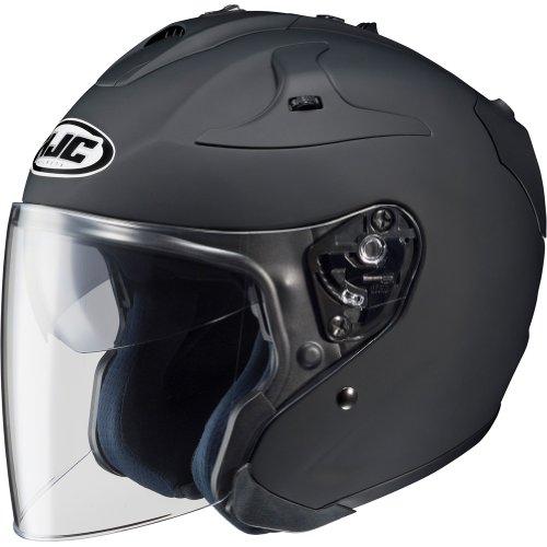 HJC Solid FG-JET Half (1/2) Shell Motorcycle Helmet - Matte Black / Medium