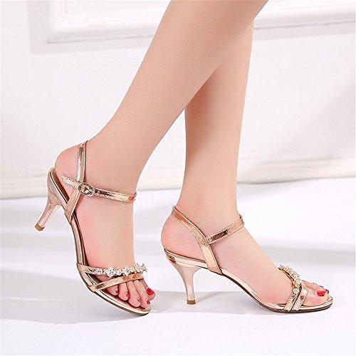 De Fille Gold À Talon Nouvelles L'été Perceuse Fines L'eau Avec Hxvu56546 Femmes Chaussures Sandales Haut Pour 5fZWdqfgA