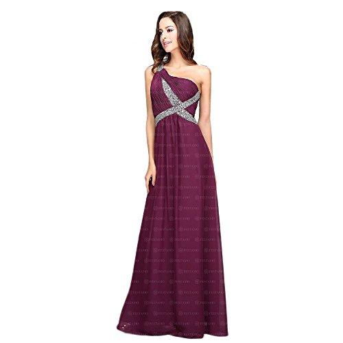 Maxi bei Kleid Ital Chiffon Für 32 Design Violett Damen In Gr Festamo Ball qBEwCCT