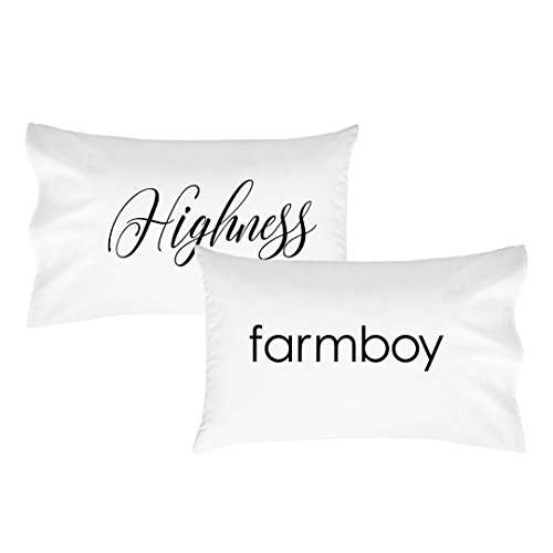 Oh, Susannah Highness Farmboy Pillowcase Set - Fits Standard Pillow Inserts (2 20x30 inch, Black) (Ideas For Couple Halloween Costumes)