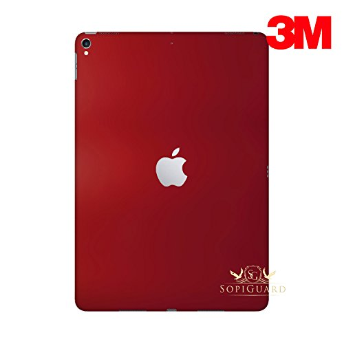 (SopiGuard for Apple 2nd Generation iPad Pro 12.9 (A1670) Carbon Fiber Rear Panel Precision Edge-to-Edge Coverage Easy-to-Apply Vinyl Skins (3M Satin Wine Red))