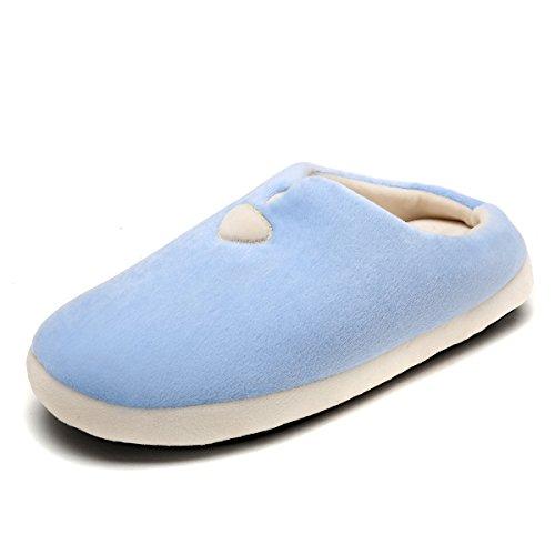 Slip House Slippers Indoor Hicooer blue on Light Women's Comfort Clog YYqPE