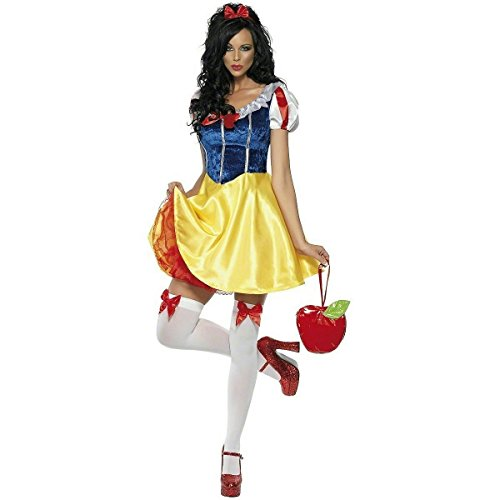 [Smiffy's Women's Fever Fairy-tale Costume, Dress Attached Underskirt, Headband and Choker, Once Upon a Time, Fever, Size 6-8, 30195] (Costumes Fairy Tale)