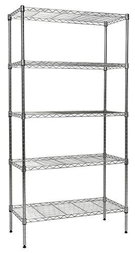 Apollo Hardware Chrome 5-Shelf Wire Shelving with Wheels 30