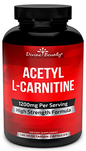 Acetyl L-Carnitine Capsules 1200mg Per Serving - L Carnitine Supplement 120 Vegetarian Capsules ()