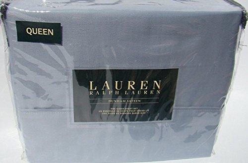 Ralph Lauren Bed Sheets - Lauren Queen Mist Blue Dunham Sateen Sheet Set