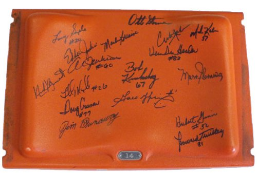 1972 Miami Dolphins Team (1972 Miami Dolphins Team Signed Orange Bowl Stadium Seatback (MAB -72DOLSB1))