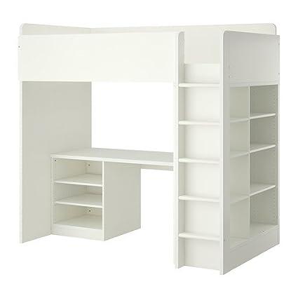 Amazon Com Ikea Twin Size Loft Bed Combo W 2 Shelves 3 Shelves
