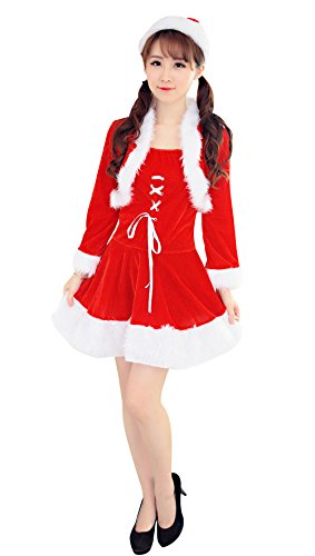 [YeeATZ Fashion Santa Claus Halloween Dress Christmas Costume] (4xl Santa Costume Uk)