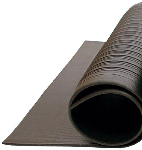 Bertech Anti Fatigue Vinyl Foam Floor Mat, 3' Wide x 20' Long x 3/8'' Thick, Textured Pattern, Black (Made in USA) by Bertech (Image #2)