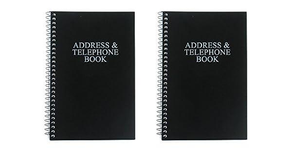 Amazon.com: Negro Teléfono libreta de direcciones Juego de 2 ...