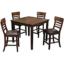 Breakfast Table Set with Counter Height Chairs
