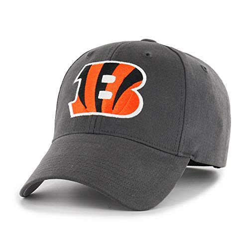 MISC Grey NFL Cincinnati Bengals Cap Sports Football Hat Team Logo Athletic Games Baseball Cap Hat for Boys Kids Unisex Fan Gift Adjustable Strap Closure Embroidery Design Quality Cotton Fabric
