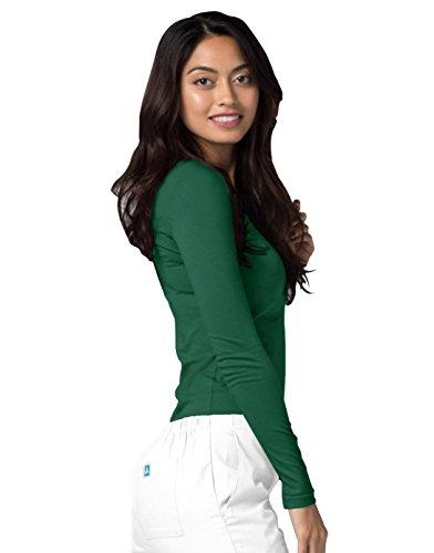 Adar Womens Comfort Long Sleeve T-Shirt Underscrub Tee - 2900 - Hunter Green - M by Adar Uniforms (Image #4)