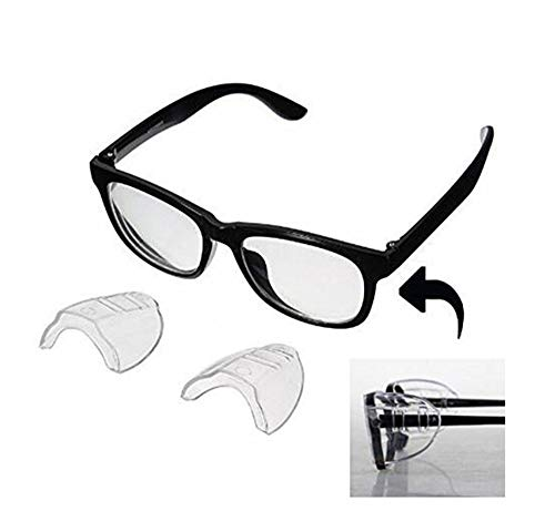 0cd0649f3fd Gechiqno Glass Wing - Double Hole Side Shields for Safety Glasses Protection  Eye Protector Flexible Clear