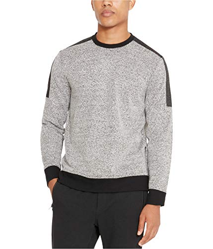 Kenneth Cole REACTION Long-Sleeve Textural Crew Black