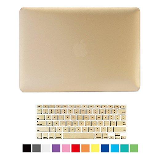 Pro 13 Retina Case, Lightweight Matte Shell Clip Snap-on Case [Anti-scratch] [Anti-slip] Soft-touch Plastic Hard Case Cover for MacBook Pro 13 Retina (Model: A1502 and A1425) (Gold) -  Aken Tech, 6480716