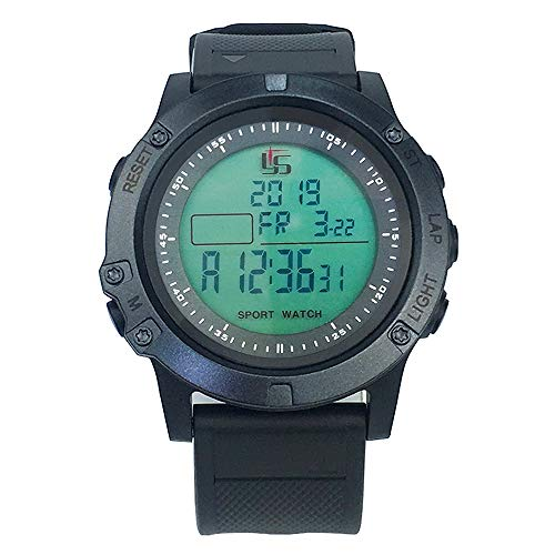 Digital Referee Watch Soccer Football Game Timer 100 Lap Split Memory Stopwatch Waterproof 3 line Display Large face dial Luminous Sports Watch with Alarm Cycle Countdown Timer Fitness Pace Function