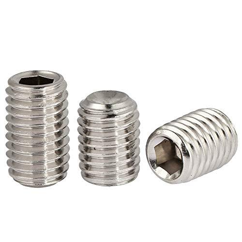Ochoos 5 piezas DIN913 M8 M10 304 acero inoxidable rosca m/étrica Grub tornillos punta plana hexagonal Socket Set tornillos sin cabeza